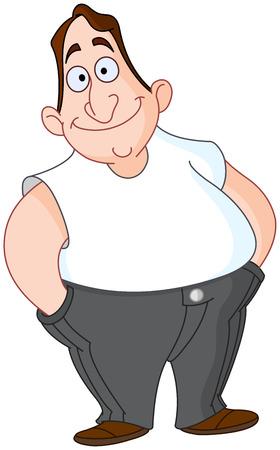macho man: Smiley man Illustration