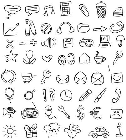 option key: Doodle icon set