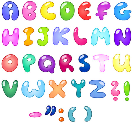 Colorful bubble-shaped letters set  Stock Vector - 7239119