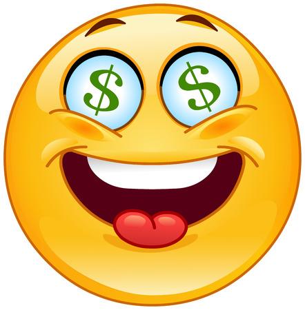 smiles: Dollar �motic�ne  Illustration