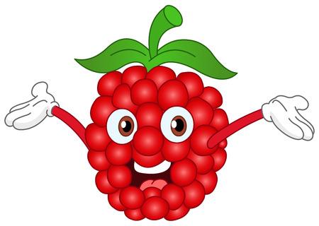 raspberry: Cartoon raspberry raising his hands