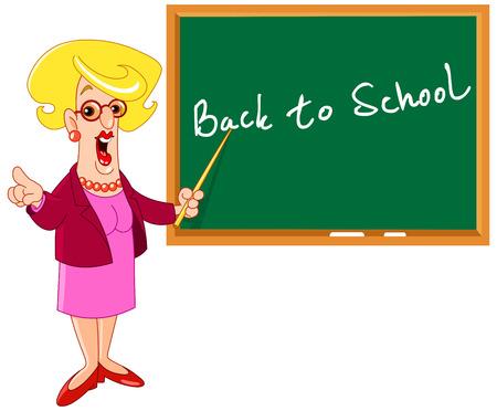 teacher student: Profesor de dibujo animado