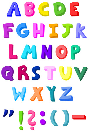 Colorful letters set Stock Vector - 7390574