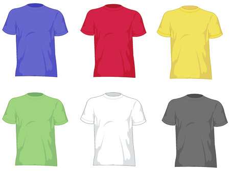 T shirts set Stock Vector - 7390575