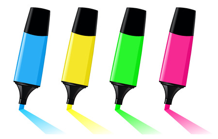 Colorful highlighters Vector