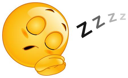 ersch�pft: Schlafende emoticon  Illustration