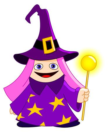 Cute little magician Vector