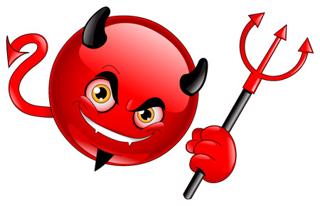 devil cartoon: Devil emoticon