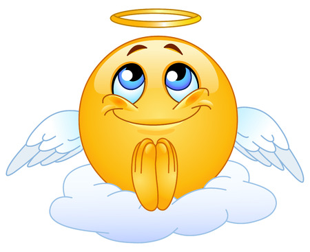 Angel emoticon Vector