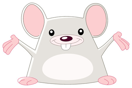cheerful mouse Stock Vector - 7613100