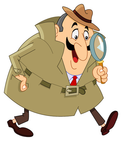 investigating: Cartoon detective