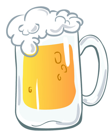 glass cup: Beer mug