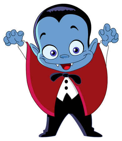 kids costume: Cartoon vampire kid