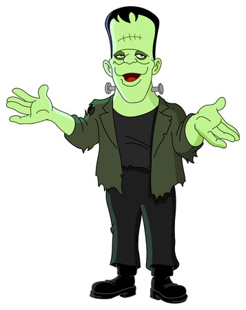 halloween cartoon: Frankenstein