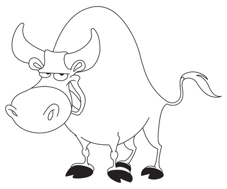 Outlined bull Stock Vector - 7784208