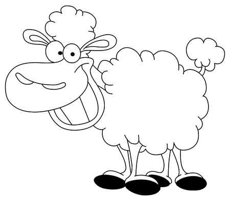 Outlined sheep Vector