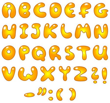 Golden letters Stock Vector - 7784220
