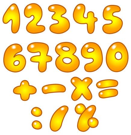 Golden numbers Stock Vector - 7784218