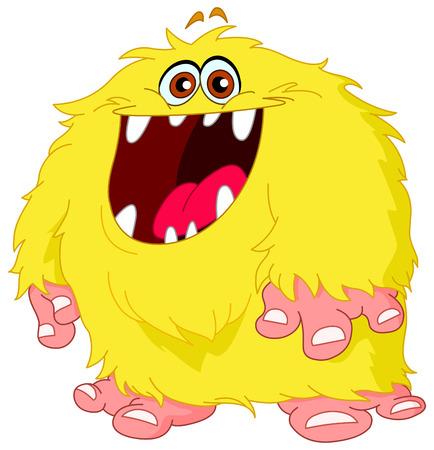 diente caricatura: Monstruo peludo