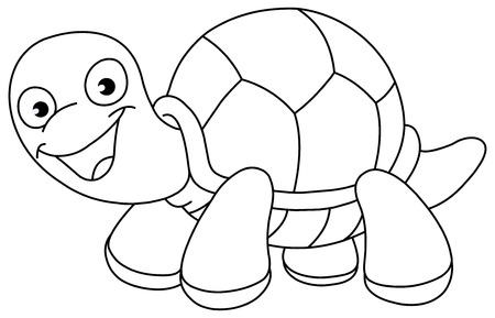 color pages: Outlined turtle Illustration