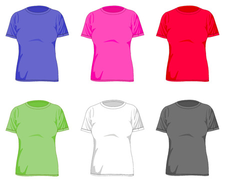 tee shirt template: Women�s t shirts set