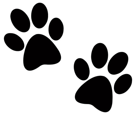 hunting dog: Paw prints pair
