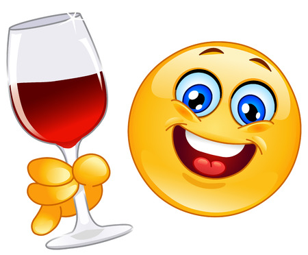making a face: Cheers emoticon Illustration