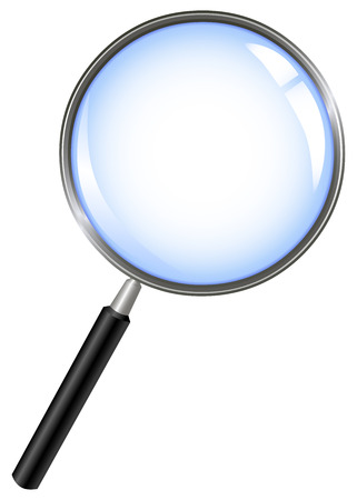find glass: Magnifying glass Illustration