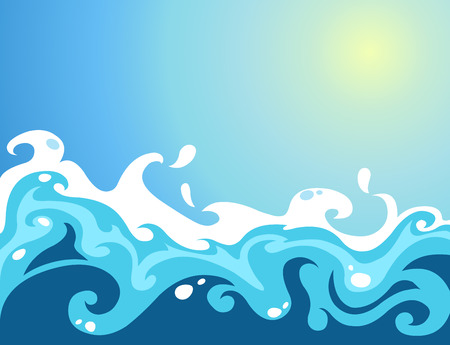 Waves Stock Vector - 7995930