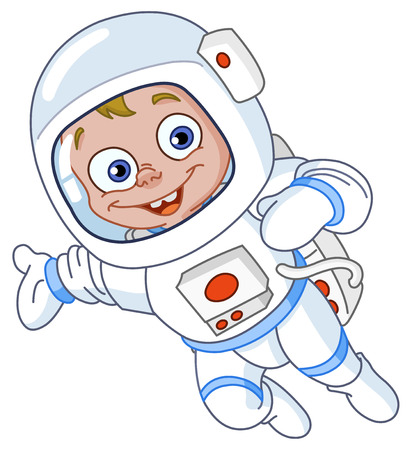 astronaut in space: Young astronaut