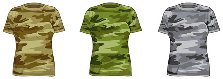 Military-style shirts for women Vector