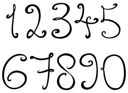 nombres: Num�ros Curly Illustration