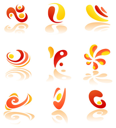 Abstract logo set