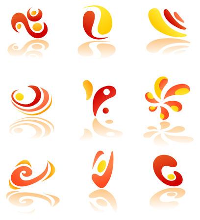 office products: Conjunto de logotipo abstracto