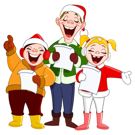 Christmas carolers Stock Vector - 8057361