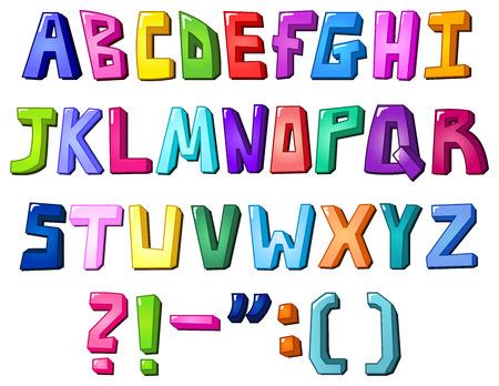 Multicolor letters Stock Vector - 8127901
