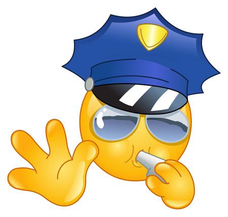policeman: Policeman emoticon Illustration