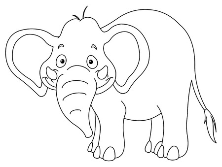Outlined elephant Stock Vector - 8164354