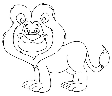 Outlined lion Stock Vector - 8164355