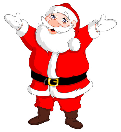 Cheerful santa Vector