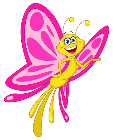 cartoon butterfly: Mariposa Vectores