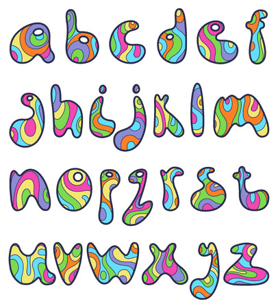 Psychedelic small letters Vector