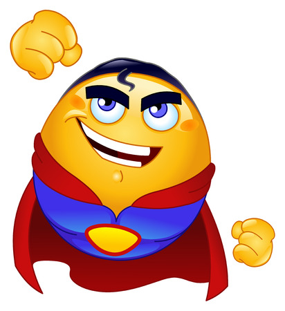 powerful:  hero emoticon