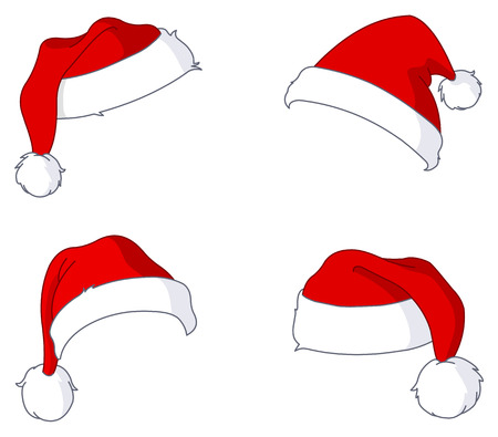 Santa hat set Stock Vector - 8376320