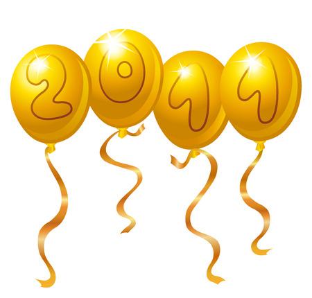 New year balloons Stock Vector - 8424568