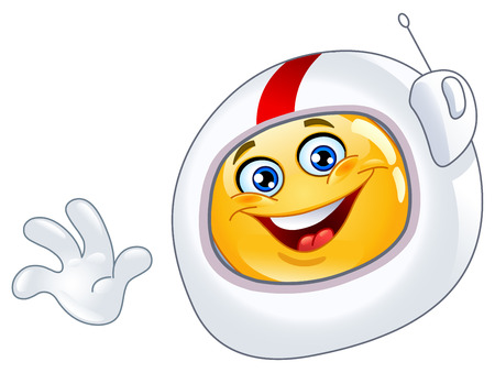 Astronaut emoticon Vector