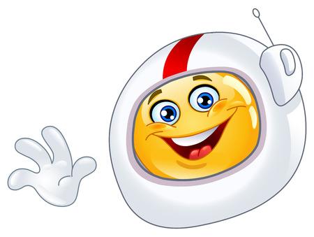 spaceman: Astronaut emoticon Illustration