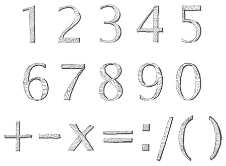 hand written numbers Vector