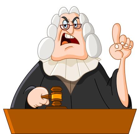 cartoon angry: Judge