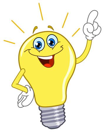 bulb: Cartoon-Gl�hbirne
